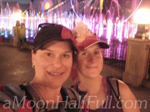 Tinkerbell half world of color selfie watermark