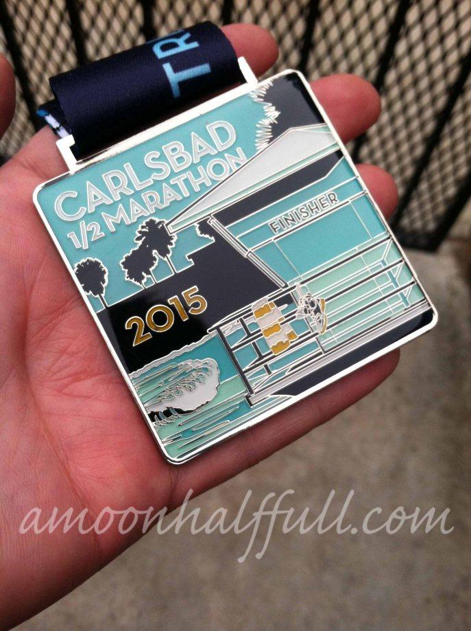2015 Carlsbad half marathon medal