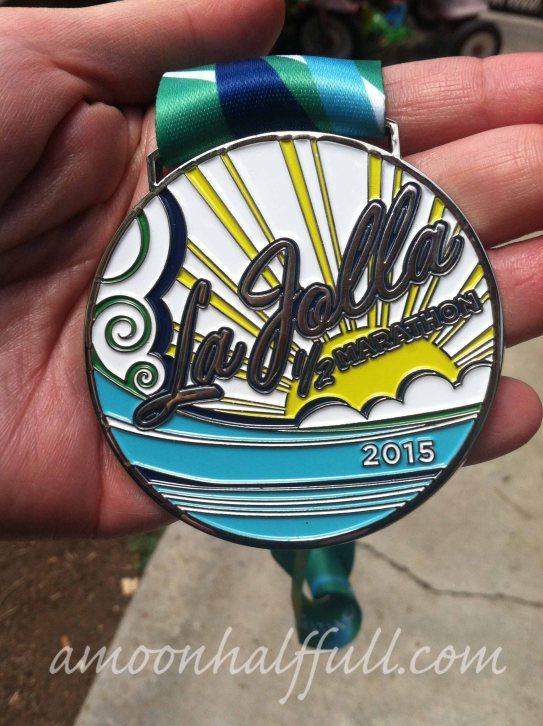 2015 La Jolla Half medal
